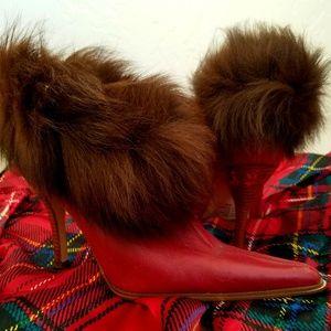 CUSTOM ORDER Fur Ankle Booties